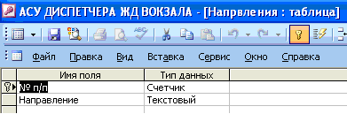 курсовая по базам данных access вокзал